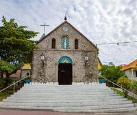 Notre Dame de l'Assomption, Le Bourg, Terre-de-Haut, Iles des Saintes, Les Saintes, Guadeloupe, Kleine Antillen, Karibik.
