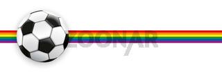 Football Rainbow Flag Stripe Header