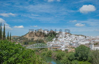 Panorama of Arcos de la Frontera, Andalusia, Spain