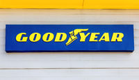 Goodyear signboard of American multinational tire manufacturing company