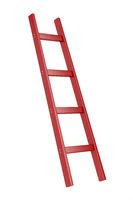 Red wooden ladder