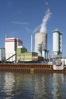 Trianel power station at the Datteln-Hamm-Kanal, Luenen, Ruhr area