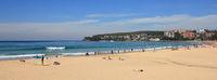 Sandy Manly beach, Sydney. Popular surf spot.