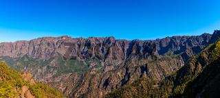 Panoramic View of the National Park Caldera de Taburiente in La Palma