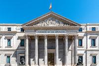 Congress of Deputies of Spain in Carrera of San Jeronimo in Madrid