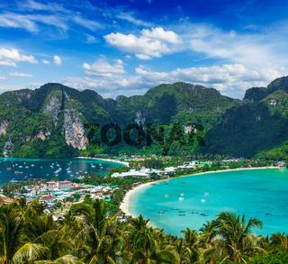 Green tropical island