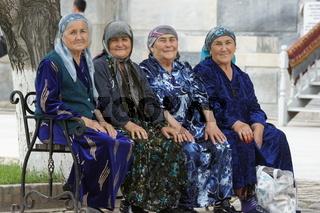 Usbekische Frauen, Samarkand, Usbekistan