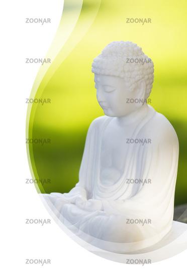 Einladungskarte mit Wellen - Der Weisse Buddha