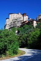 Roussanou monastery from Meteora, Greece