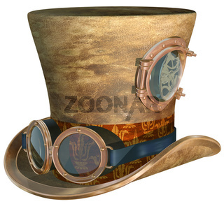 Steampunk Hat and Goggles