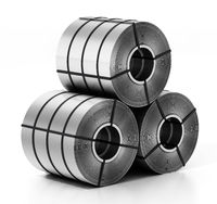 Stainless steel rolls isolated on white background. 3D illustration