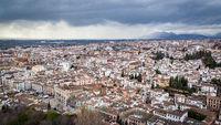 Panoramic view of Granada city