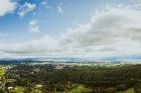 aerial panorama photo on Koenigstein Taunus in Hessen, Frankfurt