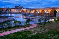 Roman Bridge on Guadalquivir River in Cordoba