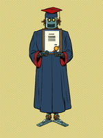 a graduate of a university or college with a diploma, a robot. Artificial intelligence in science and education