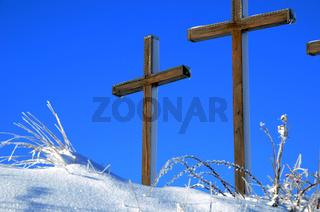 Kreuze auf dem Kornbühl