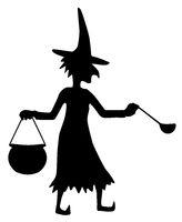 Witch Silhouette, Cauldron