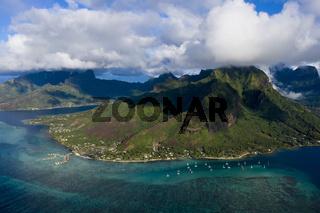Bucht Baie de Cook, Opunohu Bucht, Franzoesisch Polynesien