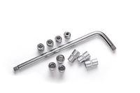 Socket wrench set on white background