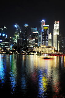 Singapur bei Nacht / Singapore at night