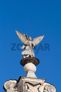 Angel statue on the church