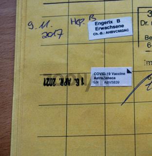 Imfpass mit Covid-Impfung Eintrag