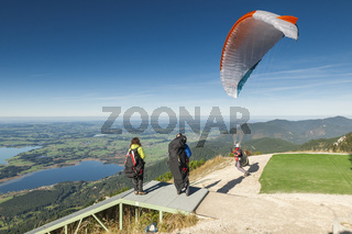 Paraglider take-off phase two