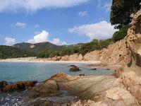 costal landscape on the island sardinia