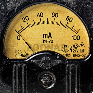vintage ancient voltmeter