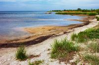 Sandy Seashore in Kuznica on Hel Peninsula in Poland
