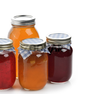 Homemade Marmalade,Jam And Honey