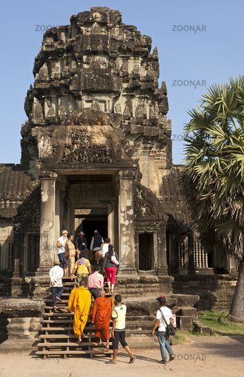Entrance gate to the Angkor Wat temple, Cambodia