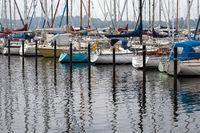 Sailing boats 002. Eckernfoerde. Germany