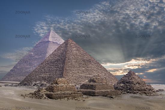 Pyramiden von Gizeh, Aegypten