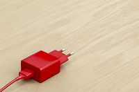 Red smartphone charger