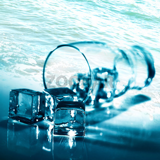Water and ice. Abstract backgrounds for your design