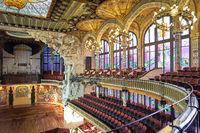 Barcelona. Catalonia. Spain. Palau de la musica catalana concert hall