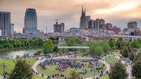 Open Air Music performance at Cumberland Park in Nashville - NASHVILLE, USA - JUNE 15, 2019