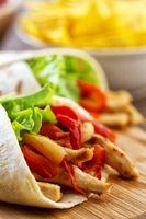 Mexican Fajitas with Chicken and Vegetables. High quality photo