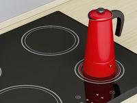 Moka pot on ceramic cooktop