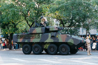 Mowag Piranha armoured fighting vehicle during Spanish National Day Army Parade in Madrid