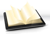 Open Book In Tablet PC