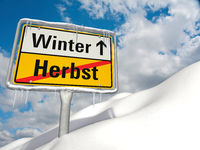 Symbolic image on the topic of the beginning of winter.