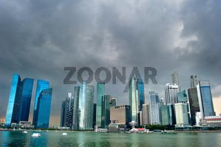 Singapore before the rain