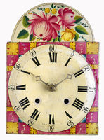 old Black Forest shield clock, isolated