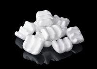 M-shaped styrofoam packing chips