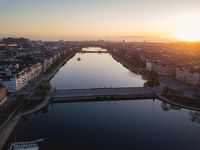 Queens Louises Bridge and the Lakes in Copenhagen, Denmark