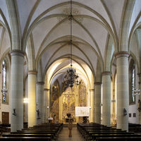Interior view of the Catholic parish church St. Laurentius, Herne, Ruhr area, Germany, Europe