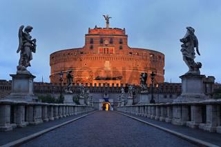 Rome, Castel Sant'Angelo at sunrise