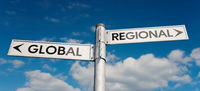 Guide posts with the decision between global or regional.